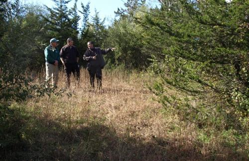 Biologists at Nellie Hill Tract